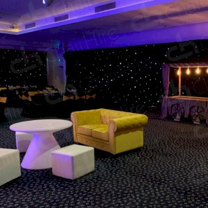 The Mustard Fabric Chesterfield sofa was hired by a client to impress guests and add a pop of colour to their event.