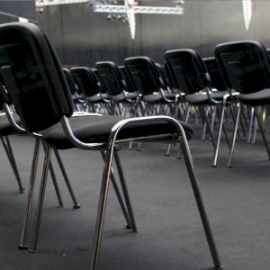 Stacking chairs are convenient for all large events.