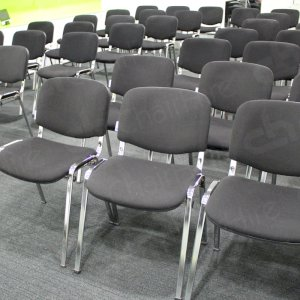 Comfy conference chairs make a top meeting choice.