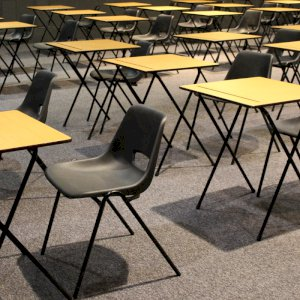 Exam tables & plastic chairs make a great exam team.