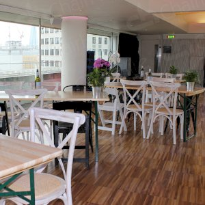 Our folding tables can be installed in seconds and our specially hand-picked selection of chairs make any venue look great!