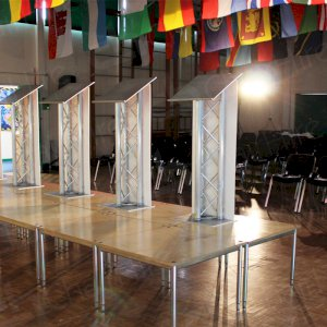 Podiums for politicians.
