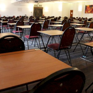 Plenty of space for examinations in a comfortable hotel venue.