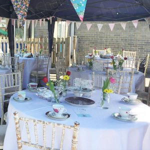 Our Limewash Chiarvari chairs can come complete with different coloured chair pads to suit any event. They're elegant, striking and definitely impress from the outset.