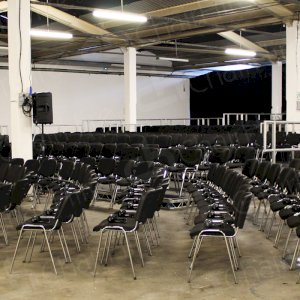 Transform large spaces with chair hire.