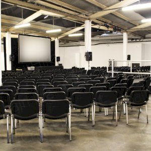 Thousands of stacking chairs for your pop up cinema. Comfortable for long periods of time.