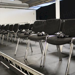 Headphones on every seat for all visitors to enjoy the film.