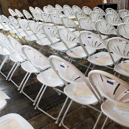 Main Image of White Folding Fan Back Chair