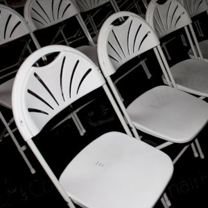 Opt for folding chairs (as pictured) or padded stacking chairs for meetings or conferences across the UK.