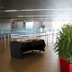 Using stretch barriers for VIP areas at conferences
