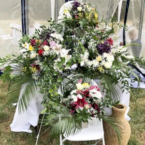 Choosing to hire tables for floral displays to enhance your wedding day and add a splash of colour.