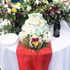 Don't forget to hire the all important cake table! Everyone loves to admire the cake and take pictures before everyone digs in.