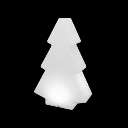 100cm White Illuminated Tree