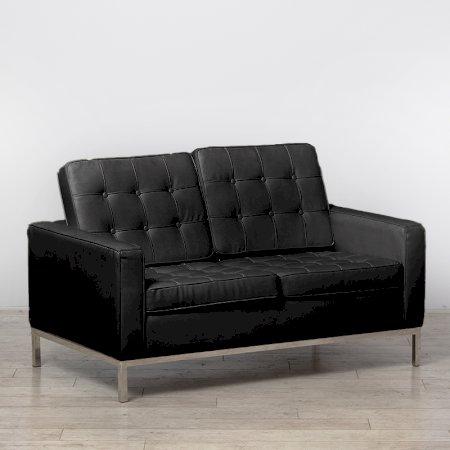 Two Seater Black Montague Sofa