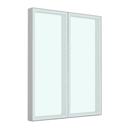 1984w x 2418h Freestanding Aluminium Screen Clear