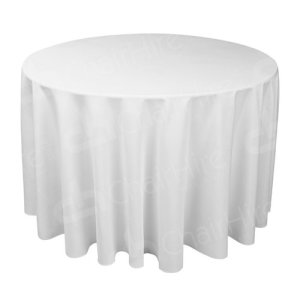 3ft Round Table Cloth - White