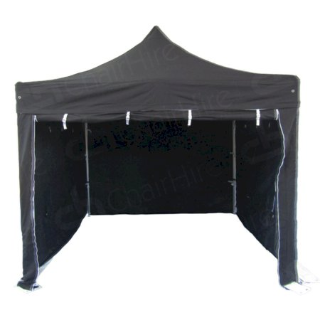 3m x 3m Black Popup Marquee With Sides