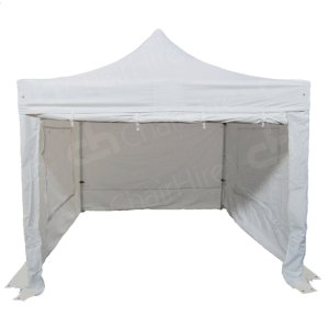 3m x 3m White Popup Marquee With Sides