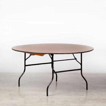 5ft Round Trestle Table