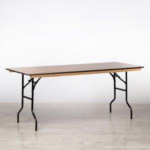 6ft Rectangular Trestle Table