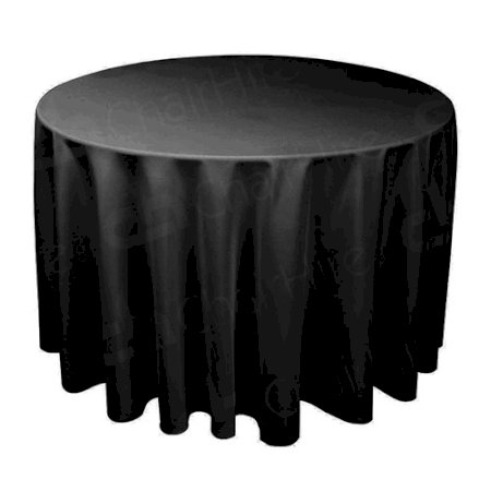 6ft Round Table Cloth - Black