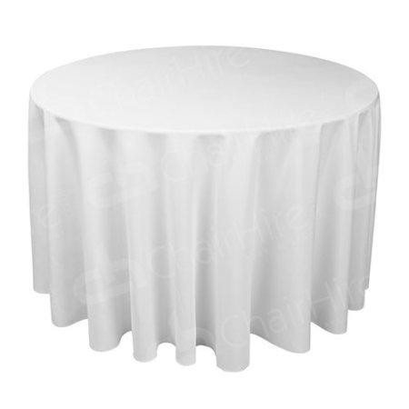 6ft Round Table Cloth - White