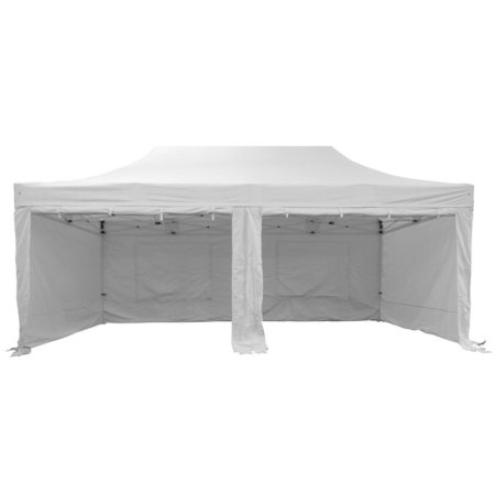 6m x 3m White Popup Marquee With Sides