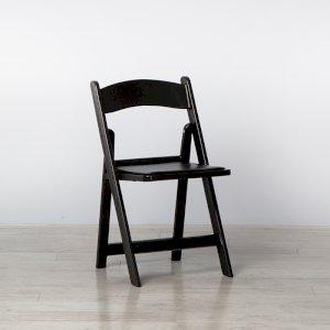 Black Folding Resin Chair