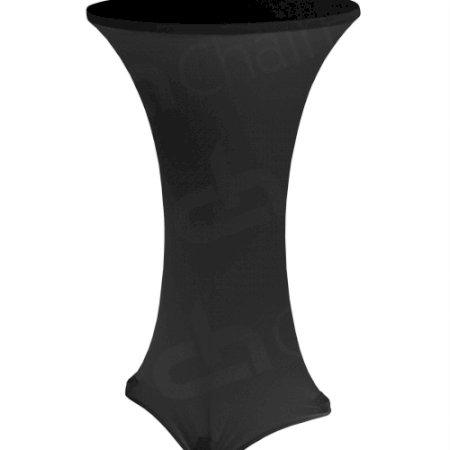 Black Lycra Poseur Table Cloth