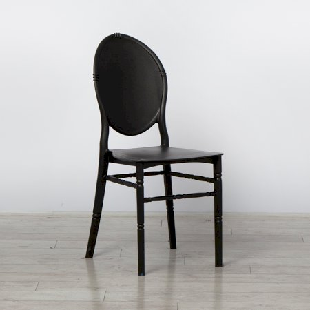 Black Medaillion Chair