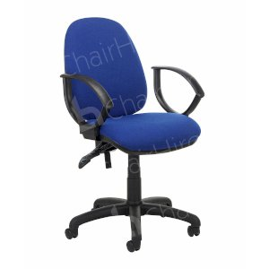 Blue Office Chair with Arms