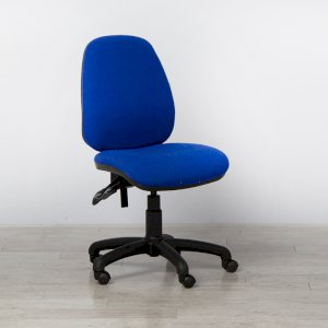 Blue Office Chair without Arms