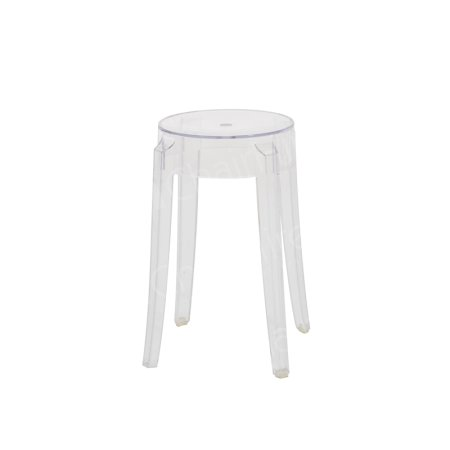 Clear Charles Ghost Low Stool