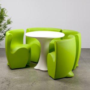 Green Petal Dining Set