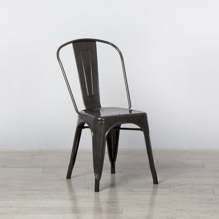 Main Image of Grey Tolix Style Stacking Chair