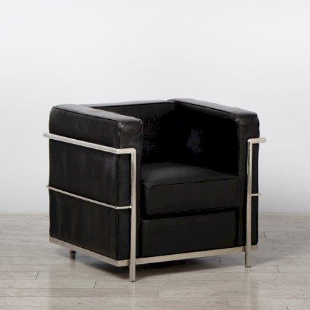 One Seater Black Corbusier Sofa