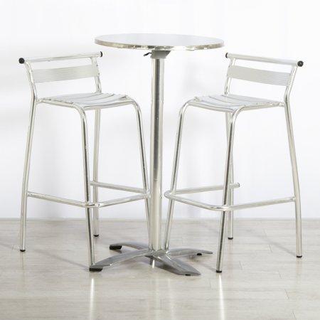 Main Image of Poseur Table and Aluminium Stools