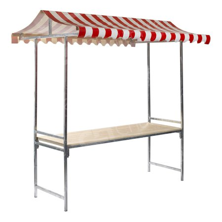 Red Folding Market Stand 2m - Professional