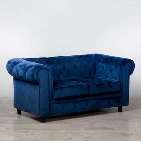 Royal Blue Fabric Chesterfield Sofa