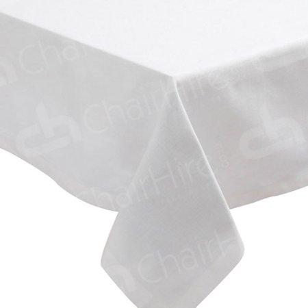 70 x 70 Inch White Bistro Tablecloth