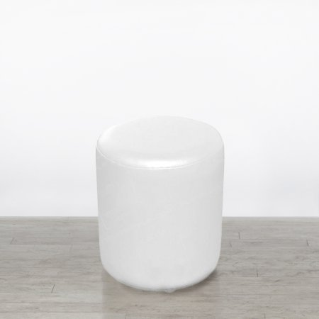 White Drum Stool