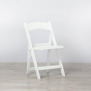 White Folding Resin Chair