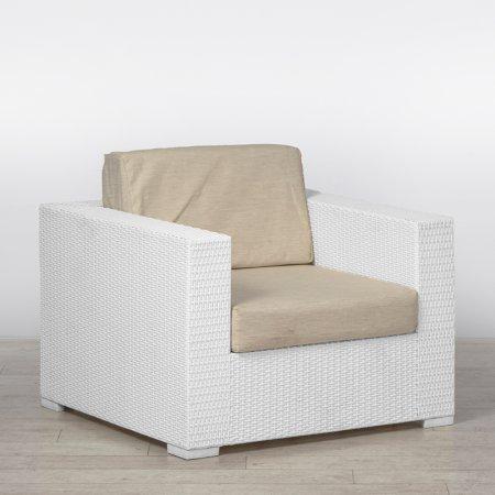 White Rattan Chair