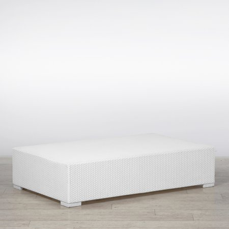 White Rattan Coffee Table Large