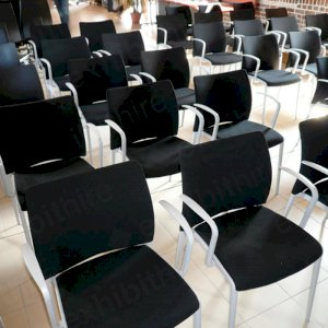 Our Aura chairs can be hired with or without arms and are a popular exhibition chair.