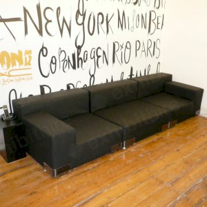 Our Black Modular Sofa Unit is practical and stylish. Available in a range of colours.