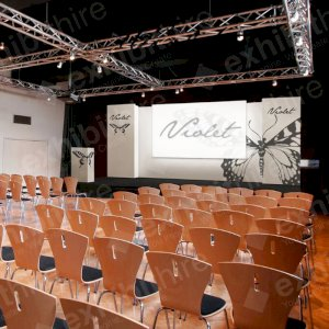The Carboni Stage Package can be hired in a range of sizes and is fully customisable.