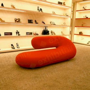 The Chaise Longue is a unique sofa that is upholstered with moulded foam.