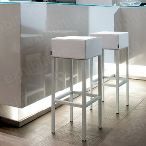 The Cube Stool is a modern and fresh seating solution that looks great at exhibitions.
