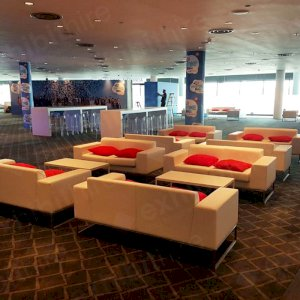 Our Lay Sofas in a VIP area.